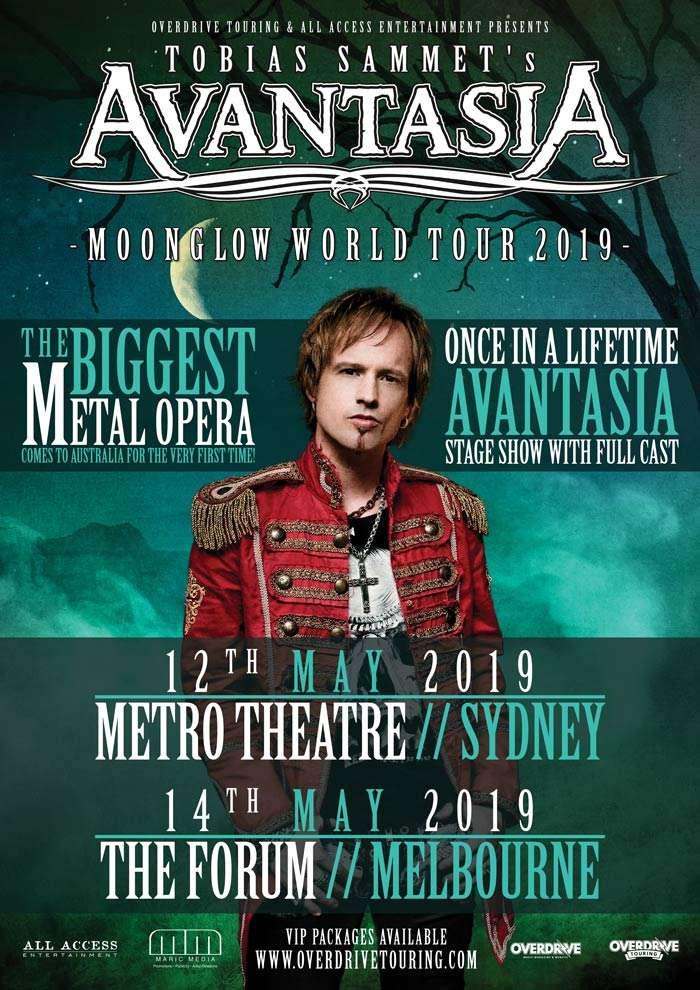 Tobias Sammet's Avantasia Moonglow World Tour 2019 Australia