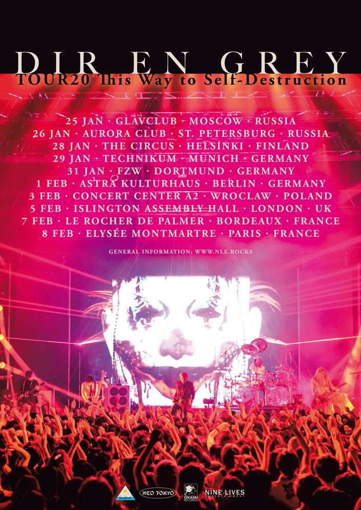 DIR EN GREY - TOUR20 This Way to Self-Destruction
