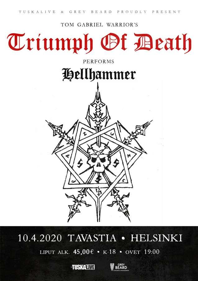 Triumph Of Death @ Tavastia, Helsinki on 10.04.2020