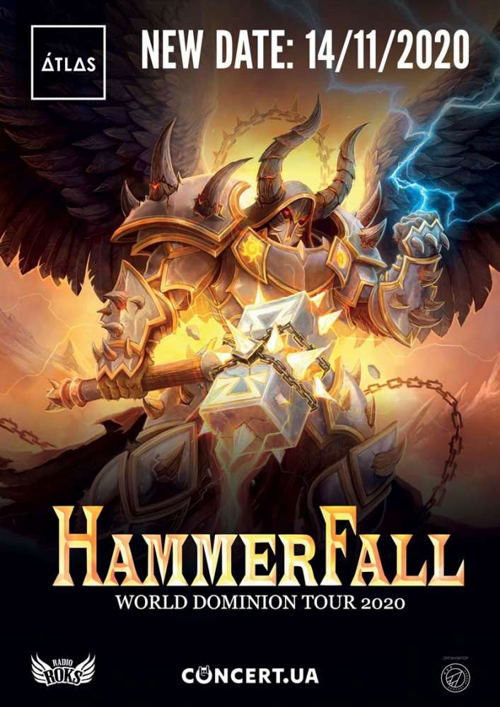 Hammerfall - World Dominion Tour - NEW DATE