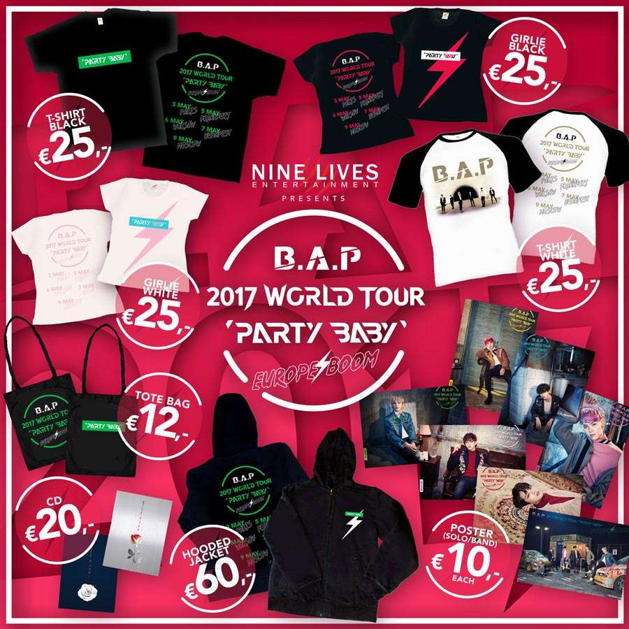 B.A.P Merchandise Collection Europe 2017