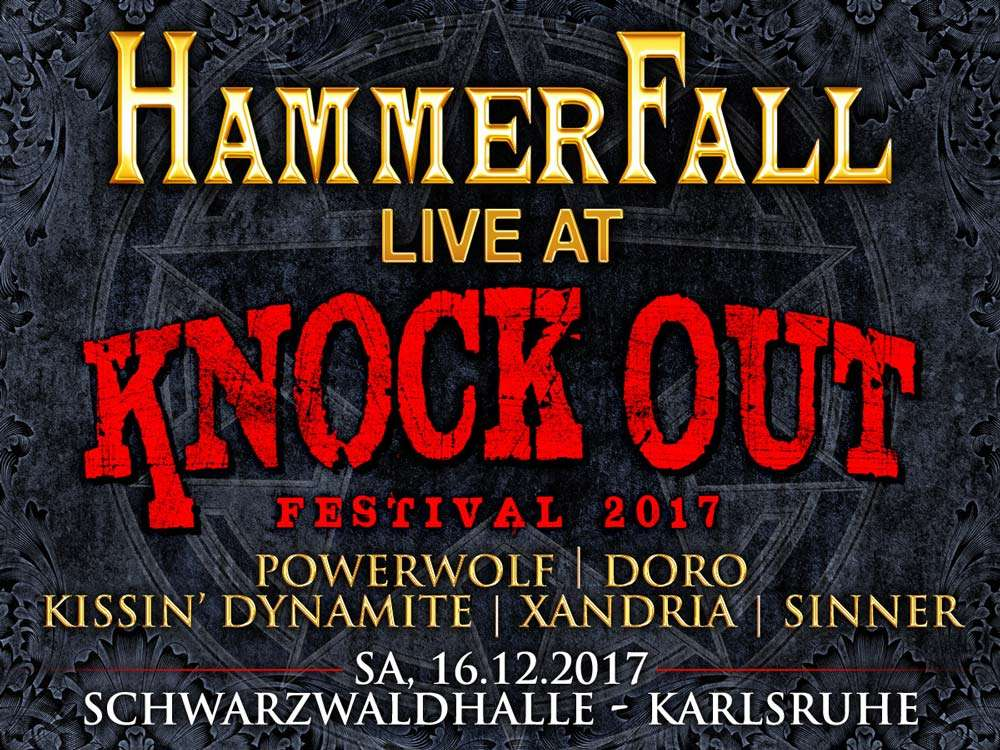Hammerfall at Knock Out Festival 2017