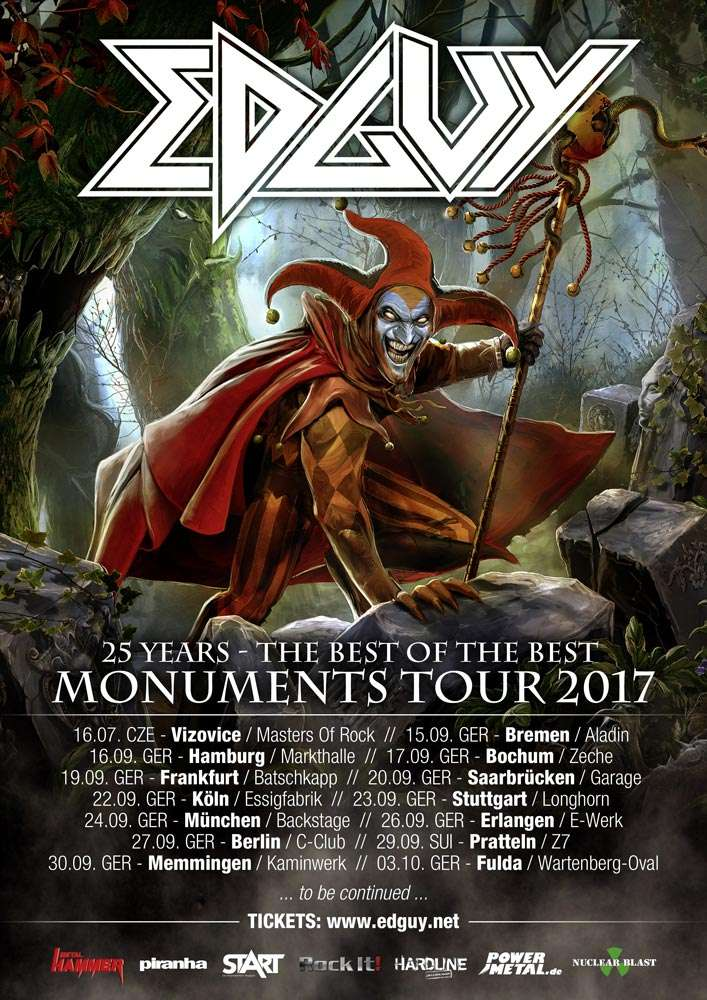 Monuments Tour, Edguy and The Unity